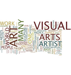 The basis of visual arts text background word vector