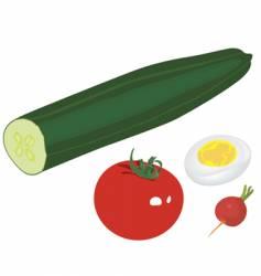 salad various vector image
