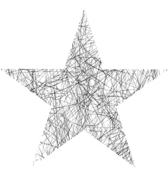 Star scribble vector