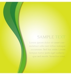 Green waves on a yellow back vector