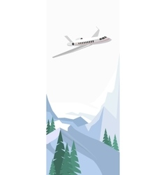 Plane on winter background vector