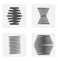 Monochrome icon set with springs vector