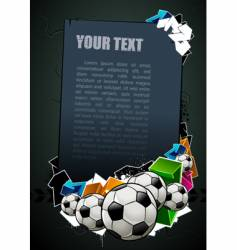 football graffiti banner vector image
