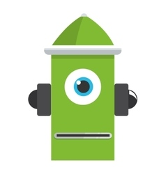 colorful green robot icon vector image