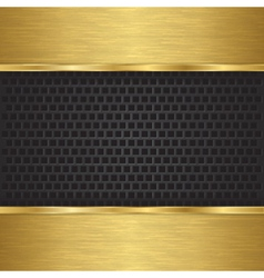 Abstract golden background with metallic speaker g vector image vector image