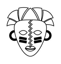 African mask ethnicity icon vector