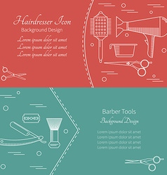 Banner hairdressing tools vector image