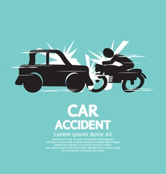 Car Crash With Motorcycle vector image vector image