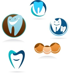 Collection of dental clinic icons vector