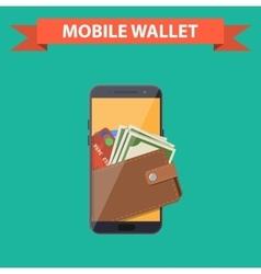 digital mobile wallet vector image