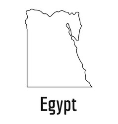 egypt map thin line simple vector image