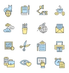 Freelance icons in color vector