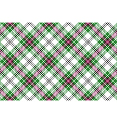 Green white pink diagonal tartan plaid seamless vector