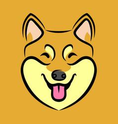 Happy dog face vector