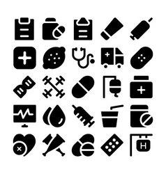 Health icons 6 vector