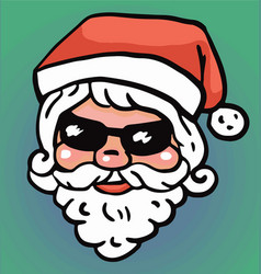 hipster santa claus fashion with cool beard vector image vector image