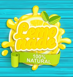 Lemonade label splash vector