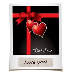 love ribbon photo vector image vector image