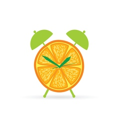 orange fruit clock color vector image