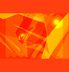 orange polygon backgrounds vector image vector image