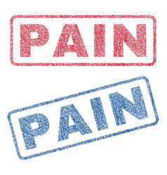 Pain textile stamps vector