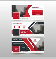 Red corporate business banner template vector