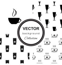 Seamless pattern with cup of coffee vector image