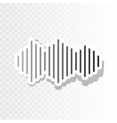 sound waves icon new year blackish icon vector image
