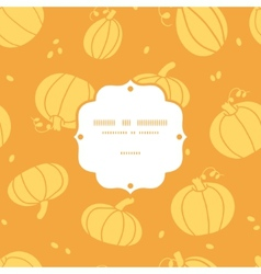 Thanksgiving golden pumpkins frame seamless vector image