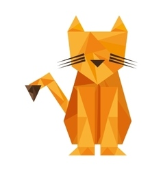 Tiger animal silhouette low poly icon vector