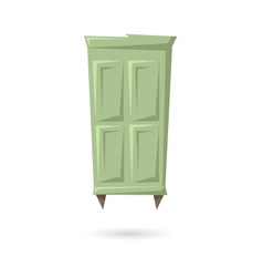 Wardrobe isolated on a white backgrounds vector image vector image