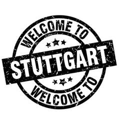 Welcome to stuttgart black stamp vector