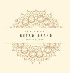 Retro ornamental frame vector