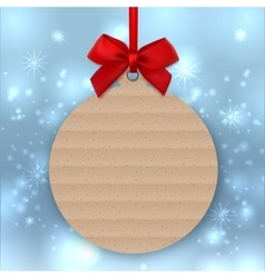 Christmas tree decoration mockup tag sticker vector