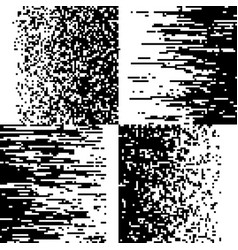 Black and white pixelation pixel gradient mosaic vector