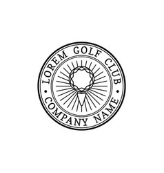 Golf logo sports club linear vector