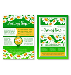 springtime holidays celebration poster template vector image