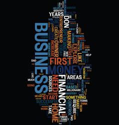 Money sense for the home based business owner vector