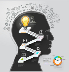 Businessman thinking idea lightbulb conceptual vector image