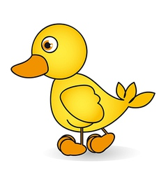 Cartoon of a rubber duck ule isolated on white bac vector