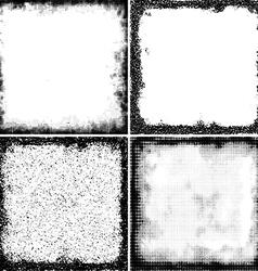 Retro Halftone Frames vector image