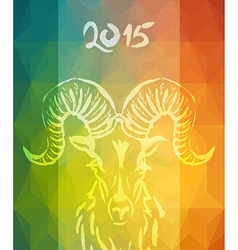 Chinese new year of the goat 2015 colorful card vector