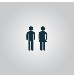 Man and woman icon vector