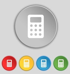 Calculator bookkeeping icon sign symbol on five vector