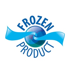 Abstract logo for frozen products vector