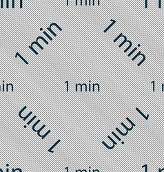 One minutes sign icon seamless pattern with vector