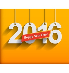 2016 white paper origami card or background happy vector