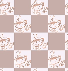 A seamless coffee pattern vector