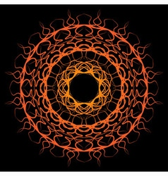 Orange yellow sun mandala vector