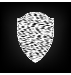 Shield sign scribble effect vector